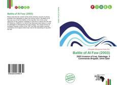 Borítókép a  Battle of Al Faw (2003) - hoz