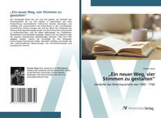 """Capa do livro de """"Ein neuer Weg, vier Stimmen zu gestalten"""""""