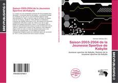 Bookcover of Saison 2003-2004 de la Jeunesse Sportive de Kabylie
