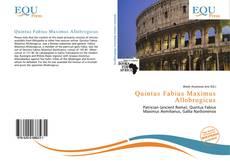 Bookcover of Quintus Fabius Maximus Allobrogicus