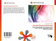 Buchcover von Joseph Dupont (Violinist)
