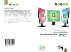Lucille Kahn kitap kapağı