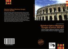 Bookcover of Quintus Fabius Maximus Gurges (Consul 292 BC)