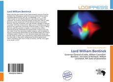 Bookcover of Lord William Bentinck