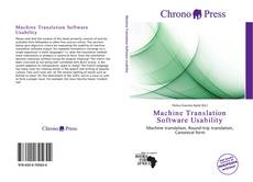 Buchcover von Machine Translation Software Usability