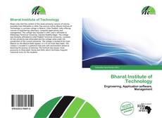 Bookcover of Bharat Institute of Technology