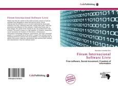 Capa do livro de Fórum Internacional Software Livre