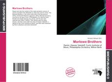 Couverture de Marlowe Brothers