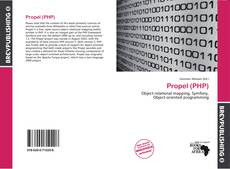 Couverture de Propel (PHP)