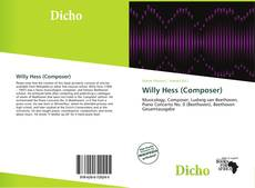 Buchcover von Willy Hess (Composer)