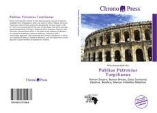 Capa do livro de Publius Petronius Turpilianus