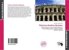 Capa do livro de Tiberius Avidius Quietus