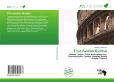 Copertina di Titus Avidius Quietus