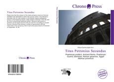 Capa do livro de Titus Petronius Secundus