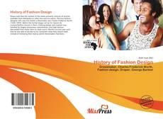 History of Fashion Design kitap kapağı