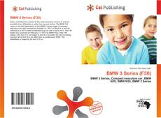 Bookcover of BMW 3 Series (F30)