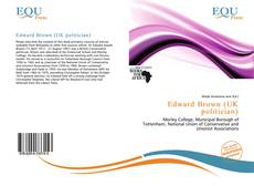 Обложка Edward Brown (UK politician)