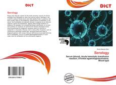Bookcover of Serology