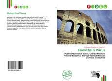 Capa do livro de Quinctilius Varus