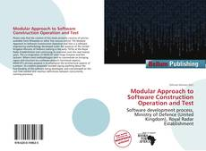 Buchcover von Modular Approach to Software Construction Operation and Test