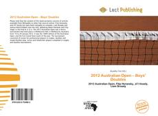 Bookcover of 2012 Australian Open – Boys' Doubles