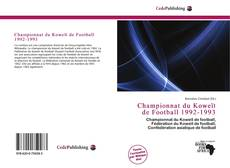 Bookcover of Championnat du Koweït de Football 1992-1993