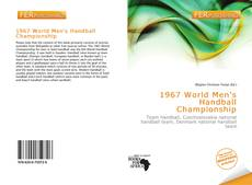Portada del libro de 1967 World Men's Handball Championship