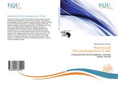Bookcover of Numerical Electromagnetics Code