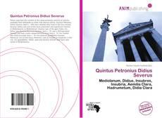 Buchcover von Quintus Petronius Didius Severus