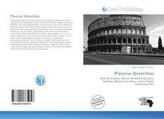 Bookcover of Plautius Quintillus