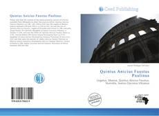 Buchcover von Quintus Anicius Faustus Paulinus