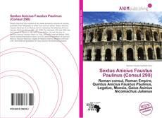 Обложка Sextus Anicius Faustus Paulinus (Consul 298)