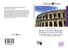 Bookcover of Quintus Fabius Maximus Gurges (Consul 265 BC)