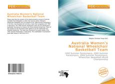 Bookcover of Australia Women's National Wheelchair Basketball Team