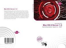 Bookcover of Mac OS X Server 1.0