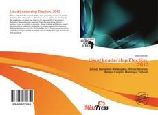 Copertina di Likud Leadership Election, 2012