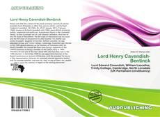 Portada del libro de Lord Henry Cavendish-Bentinck