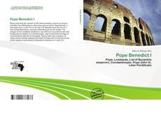 Pope Benedict I kitap kapağı