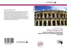 Couverture de Pope Gregory III