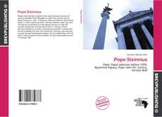 Bookcover of Pope Sisinnius