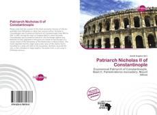 Bookcover of Patriarch Nicholas II of Constantinople