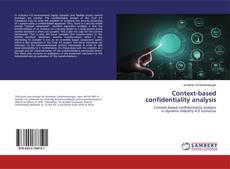 Couverture de Context-based confidentiality analysis