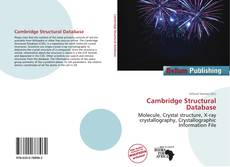 Bookcover of Cambridge Structural Database
