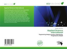 Bookcover of Applied Science International