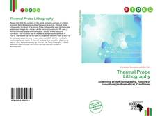Couverture de Thermal Probe Lithography