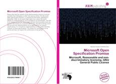 Bookcover of Microsoft Open Specification Promise