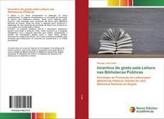 Capa do livro de Incentivo do gosto pela Leitura nas Bibliotecas Públicas
