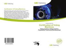 Bookcover of Certification of Voting Machines