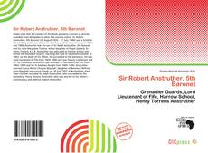 Bookcover of Sir Robert Anstruther, 5th Baronet