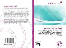 Обложка Arthur Acland Allen
